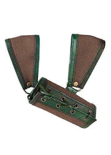 Ready For Battle Porte-épée XXL 13 cm en cuir médiéval Chevalier Viking Différentes couleurs (marron/vert)