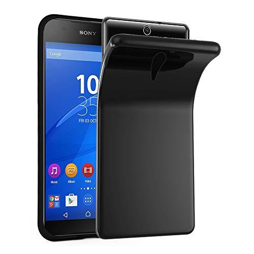 Cadorabo Hülle für Sony Xperia C5 Ultra in SCHWARZ - Handyhülle aus flexiblem TPU Silikon - Silikonhülle Schutzhülle Ultra Slim Soft Back Cover Hülle Bumper