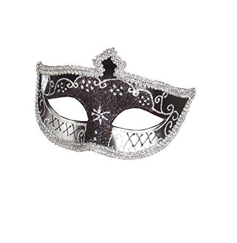 Boland 00280 Masque pour les yeux Venice Corona Noir/argenté
