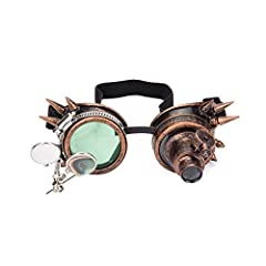 A necessary accessory for Steampunk's wardrobe. These vintage Victorian style goggles with double loupes are an excellent addition to any cosplay,costume,rave,or convention outfit. Bright colors,rich colors,strong stereo and perspective,suitable for ...