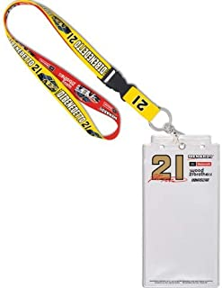 """WinCraft Matt Dibenedetto #21 Lanyard with Detachable Buckle and Credential Holder, 1"""""""