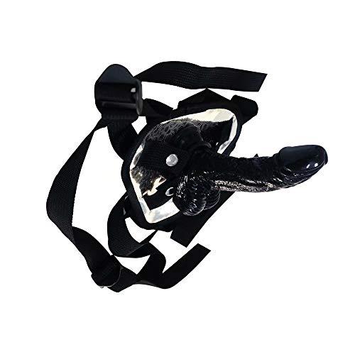 Qlòvè Massagestab Sechs Neun,6 Zoll Perlen Plug Stark Saugnapf Anus Stimulieren Medizinische Qualität Mit Großer Dichte Schwarz Abnehmbare PVC + Lederhose