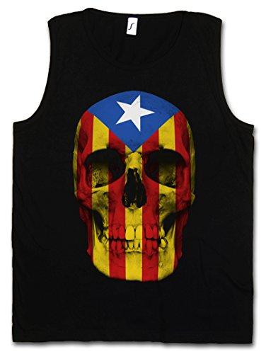 Urban Backwoods Catalonia Skull Flag Hombre Camiseta Sin Mangas Men Tank Top Negro Talla 5XL