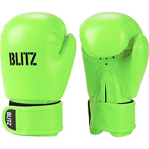 Blitz Unisex, Jugendliche Kids Omega Boxhandschuhe, neon Green, Einheitsgröße