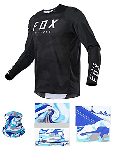 MTB Shirt Gepolstert,MTB Jersey Gepolstert,Herren Downhill Trikots Kurzarm MTB Fox Mountainbike Shirts Offroad Dh Motorrad Trikot Motocross Sportwear Fxr (Medium, Bild 11)