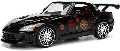 Jada Toys Fast & Furious 1:24 Johnny's Honda S2000 Die-cast Car, Toys for Kids and Adults, Black