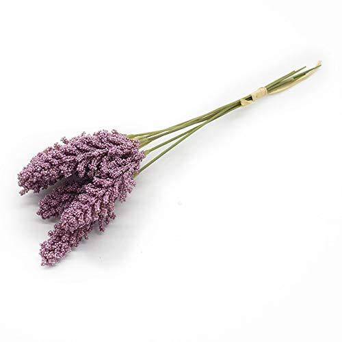 Roovtap 6 Stück Lavendel Künstliche Blumen Wohnkultur Hochzeit Dekorationen Weihnachten Scrapbooking DIY Esstisch Vasen for die Dekoration Dried Flower (Color : 6)