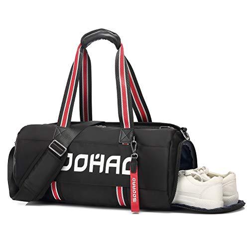 Soohao Sporttasche Wasserdicht Reisetasche Handgepäck Sport Gym Tasche Umhängetasche Fitness Weekender Tasche mit Schuhfach & Nassfach