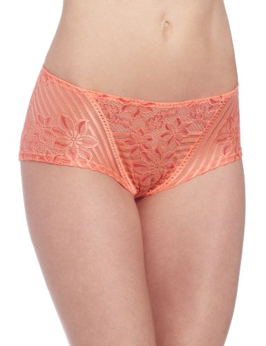 Wacoal Women's Perfectionist Brief Panty, Coral/Camelia, Small