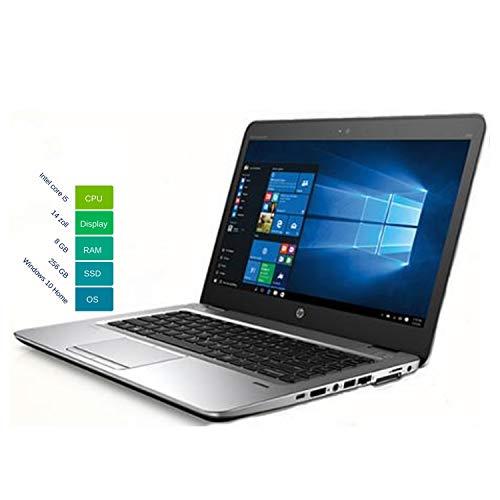 HP Elitebook 840 G3 35,56 cm 14 Zoll Full HD 1920x1080 | Leistungsstarker Laptop |Intel Core i5 2.4GHz 8GB RAM 256 GB SSD Win 10 Pro Tastatur DE | 1,54 kg Silber (Generalüberholt)