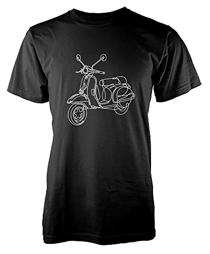 YOUQING Scooter Vespa Scribble Drawing Men's Graphic T Shirt