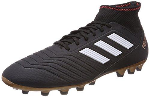 Adidas Predator 18.3 AG, Botas de fútbol para Hombre, Negro (Negbas/Ftwbla/Rojsol), 42 EU