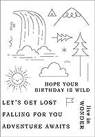 11x16朝日DIYスクラップブッキングフォトアルバム用透明クリアシリコンスタンプシール装飾クリアスタンプ