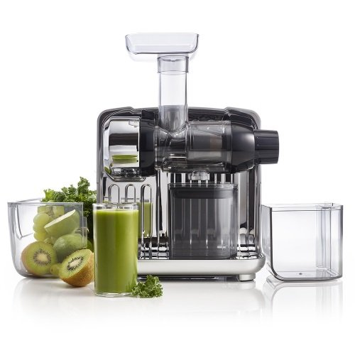 Omega CUBE302S Juice Cube slow juicer, silver