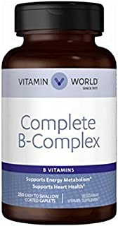 Vitamin World Complete B-Complex • B Vitamins Support Energy Metabolism** • Contribute to Heart Health** • Support a Healt...