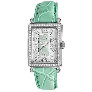 Gevril Women's 7246NL Mini Quartz Avenue of Americas Green Diamond Watch image