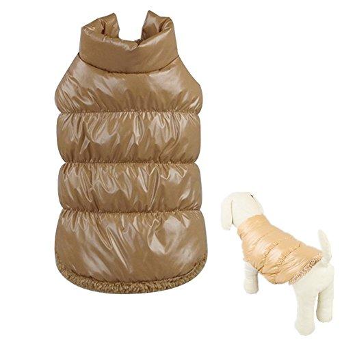 Hund Jacke Hunde Weste Daunenjacke Hundemantel Haustier Mäntel Sweatshirt Warm Pullover Herbst und Winter Kleidung Braun XS