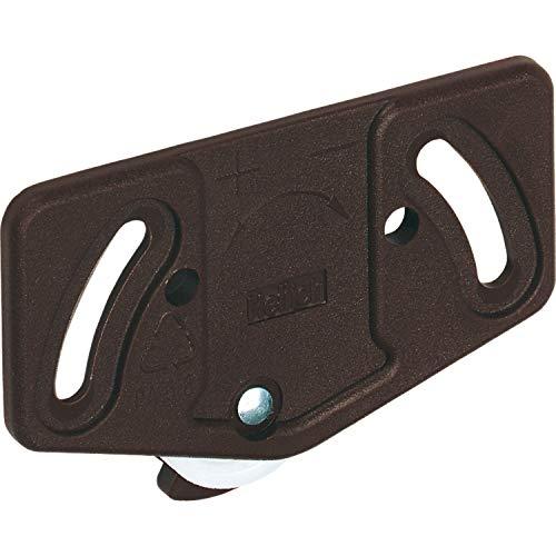 Gedotec Laufrollen Schiebetür-Laufwagen Schrank Laufteil Slide Line 55 für Schiebetür-System | Rollen für Laufschiene unten 30 kg | Kunststoff braun | 1 Stück - Laufwerk für Möbel-Schiebetüren