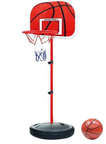 Tonyko verstellbar Kids Basketball Stand Basketballkorb Basketball tragbar Boards Spielzeug-Set 73-150 cm mit 1 Basketbälle