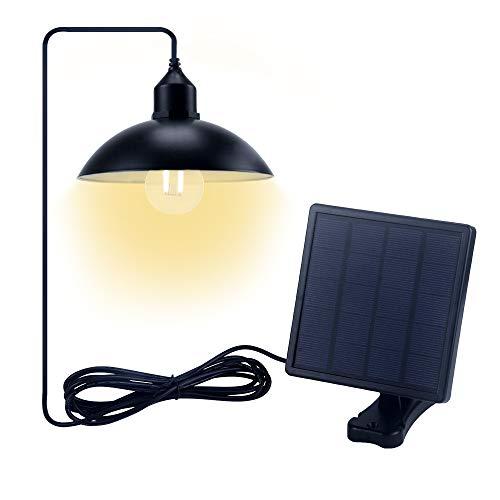 Jolicobo Solar Lampada da Soffitto Solar Hanging Lamp 2 Modalità IP65 Impermeabile LED Solar Lampada a Sospensione Lampada a Sospensione per Esterno (Coprilampada)