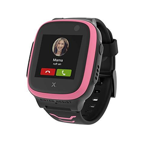 Xplora Kids Watch X5 Play eSIM GPS-Smartwatch für Kinder mit SOS-Taste, Standort-Anzeige, Telefon & Sprachnachrichten | per App mit Smartphone der Eltern verbunden | 6-Monate Telekom Prepaid Pac, pink