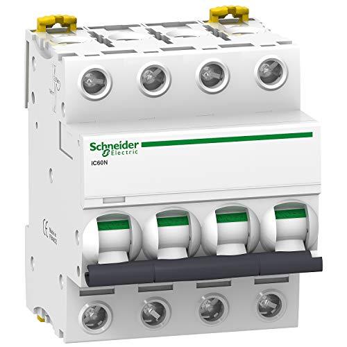 disjoncteur schneider - ic60n - 4 pôles - 50 ampères - courbe b - schneider electric a9f76450