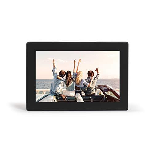 Livoo DV151 - Marco de Fotos Digital con WiFi Via App Android e iOS (Pantalla táctil de 10,1 , IPS HD 1280 x 800, fotográfico, vídeo, Audio, conexión de Tarjeta SD, USB, Toma Jack