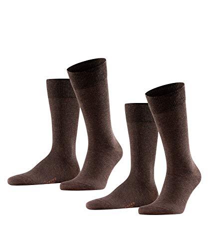 FALKE Herren Happy 2-Pack M SO Socken, Braun (Dark Brown 5450), 43-46 (2er Pack)
