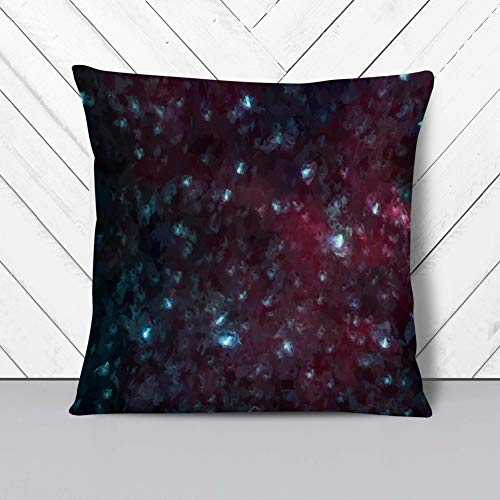 Big Box Art Cushion and Cover - Universe in Abstract Vol.17 - Single Square Throw Pillow - Soft Faux Suede Material - Stone Rear - 40x40 cm