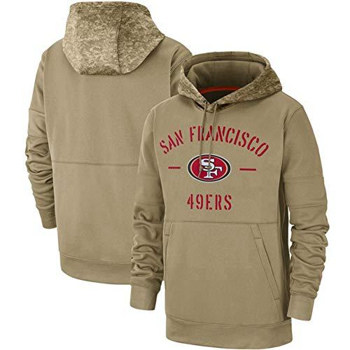 DKZ Herren Pullover - NFL San Francisco 49Ers Hoodie, Hoodedsweater Pullover Sport Langarm-Sweatshirt Fußball-Jacken - Olive,XXXL~190~195cm