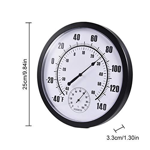 Seasons Shop Thermometer Hygrometer 10 Zoll Wand Zeigerthermometer Raumthermometer Indoor Outdoor Hygrometer Hochpräzise Für Haussauna Gemüseterrasse Gewächshaus expedient special