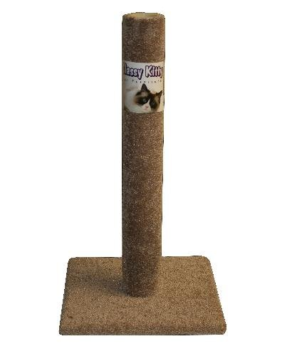 """Classy Kitty 32"""" Cat Carpet Scratching Post 16.5x16.5x 32, Assorted Colors"""