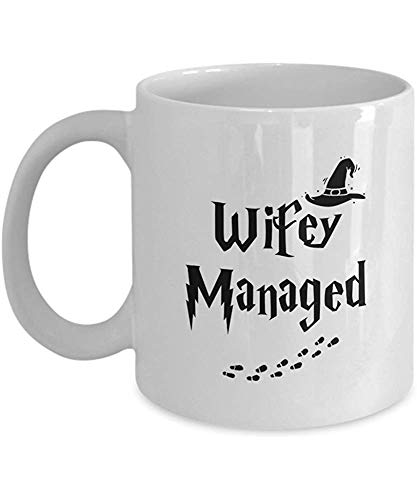 WIFEY MANAGED' Divertido para WIFEY Movies and Series Fan Club Addict Coffee Mugs