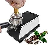 El nuevo soporte de tamper de café de acero inoxidable Cafetera de polvo en polvo de silicona MAT MAT Coffee Tampers Tool Accesorio Black (Color : Black)