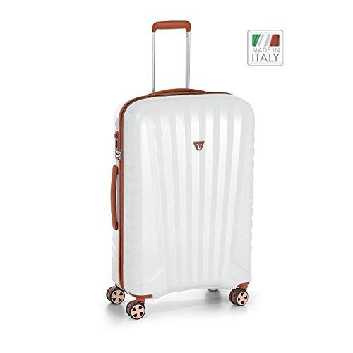 Roncato UNO ZIP Deluxe valigia a 4 ruote 71 cm cuoio perla finish