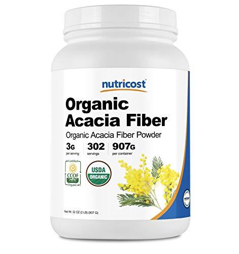 Nutricost Organic Acacia Fiber Powder (2 LB) - USDA Certified Organic, Non-GMO, Gluten Free