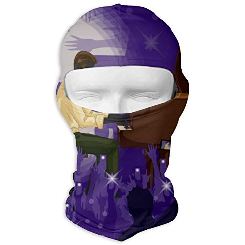 N/A Full Face Mask Man spelen Piano In Music Band Performanc kap zonnebrandmasker Dual Layer koud voor mannen en vrouwen