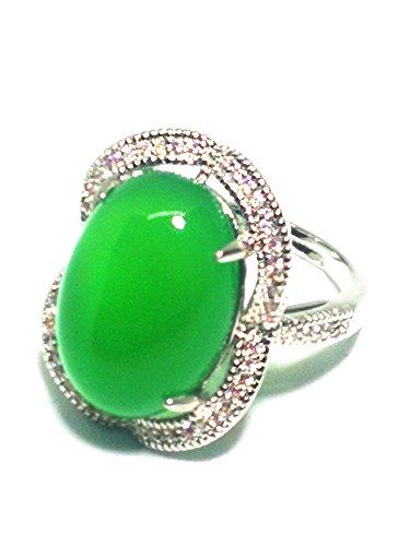 Yigedan - Anillo plata piedra preciosa jade verde