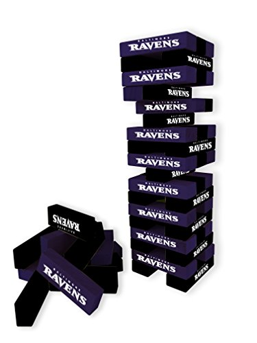 Wild Sports NFL Baltimore Ravens Table Top Stackers Game