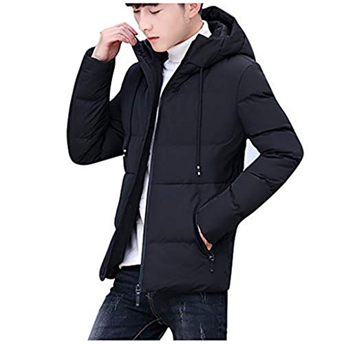 KPILP Herren Winterjacke mit Kapuze Hooded Puffer Jacket Steppjacke Winter Warm Mantel Outdoorjacke Windbreaker Übergangsjacke mit Taschen