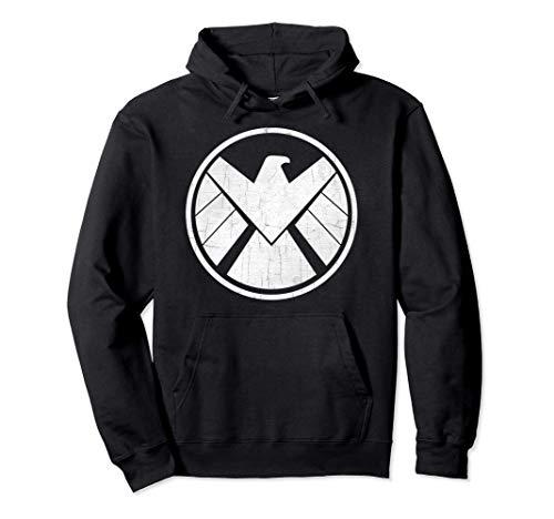 Marvel Agents of S.H.I.E.L.D. Grungy Logo Vintage Sudadera con Capucha
