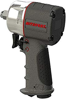 """AIRCAT 1076-XL Kevlar Composite Compact Impact Wrench, 3/8"""", Silver & Grey"""