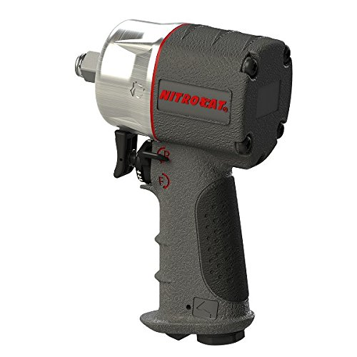 AIRCAT 1076-XL 3/8' Compact Composite Impact Wrench,Silver & Grey