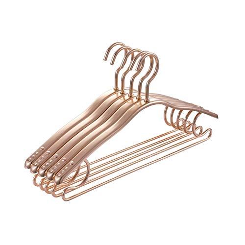 BENOHAOH 10 Ropa de aleación de Aluminio Ropa de Ropa Soporte de Ropa de Metal Simple Tienda Tienda Pantalón Rack Adulto Home Uso Multifuncional Antideslizante Colgando Ropa de Vestir