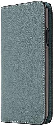 LORNA PASSONI German Shradero Calf Folio Case 【日本正规代理店商品】LP-GSC-iPX-LBL iPhoneX Light Blue