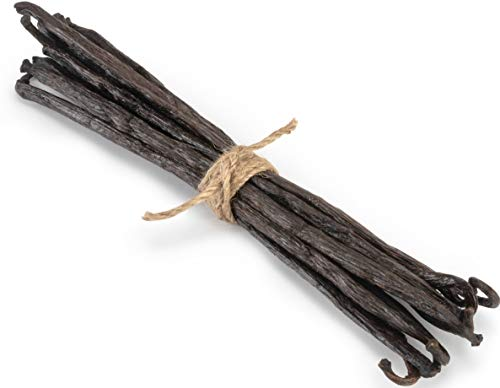 Madagascar Vanilla Beans - Extract Grade B Vanilla Pods - Bourbon Vanilla Planifolia from Madagascar for Cooking, Baking, and Vanilla Extract (10 Whole Vanilla Beans)