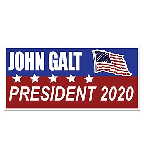 13cm x 6.2cm John Galt & Kanye West for President 2020 Sticker Car Styling Decal Auto Bumper Sticker Car Sticker