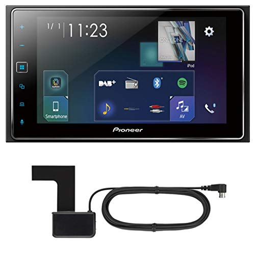 PIONEER SPH-DA130DAB AppRadio 2-DIN Moniceiver Apple CarPlay Digitalradio USB inkl. DAB Scheibenklebeantenne