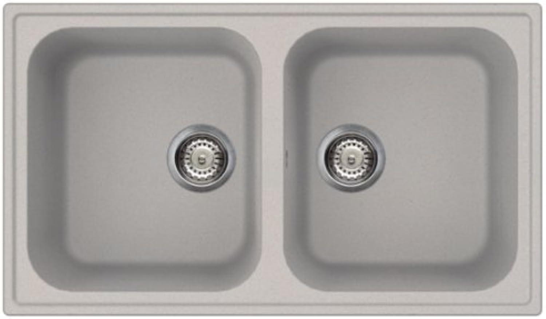 SMEG Lavello LZ862AL 2 Vasche Dimensioni 86 x 50 cm Farbee Silber Serie Rigae