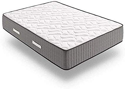 Hs14 colchón Viscoelástico 150 X 200 Cm + Almohada Tacto Pluma. Alta Gama Núcleo Fresh Natur Alta Densidad Efecto Regenerador, Altura 24 Cm